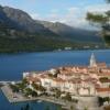 Korcula Stadt Süddalmatien Griechenland